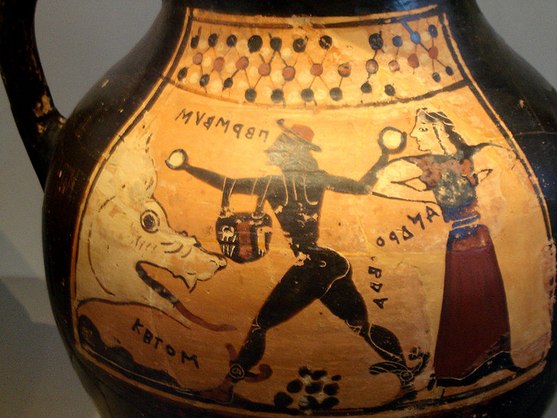 Vase depicting Perseus, Andromeda and Ketos in The Colossal Cetus by Debra Kristi, author