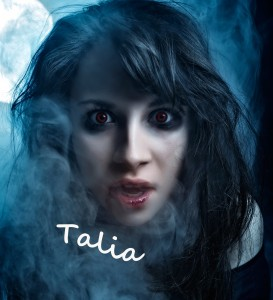 Talia in Mystic's character files by Debra Kristi, author