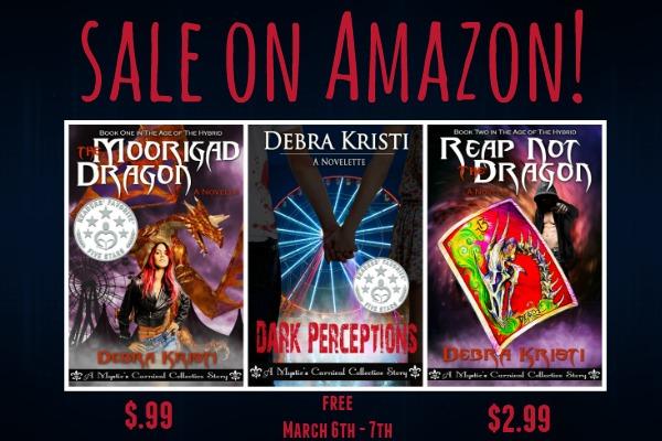 Mystic's Carnival banner in book tour by Debra Kristi