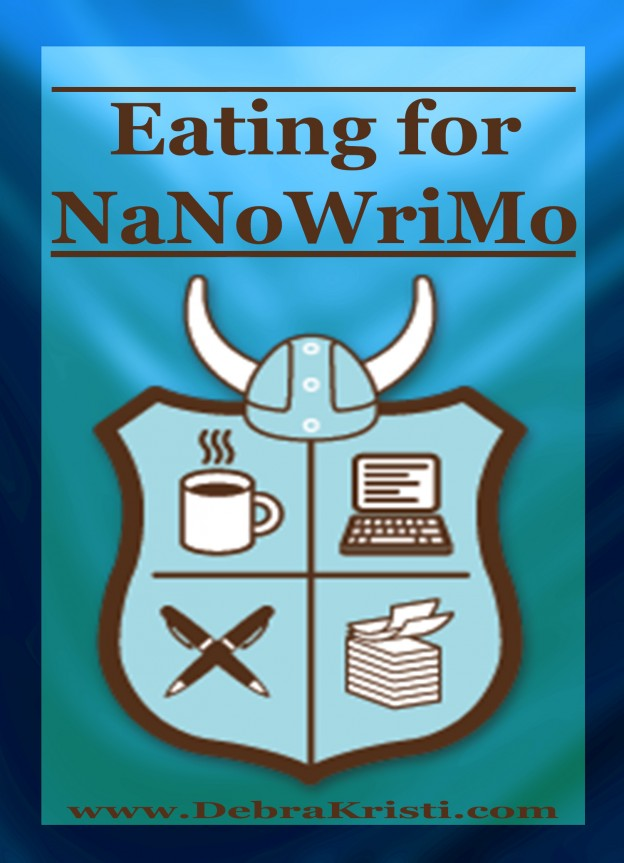 Header in Eating for NaNoWriMo by Debra Kristi, author