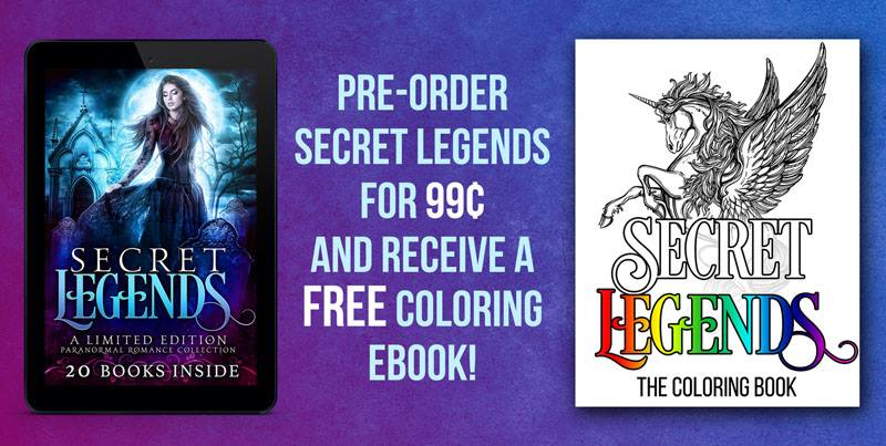 Free coloring book with iBook preorder in Pre-order Secret Legends on iBooks and Get Your FREE Coloring Book by Debra Kristi, author